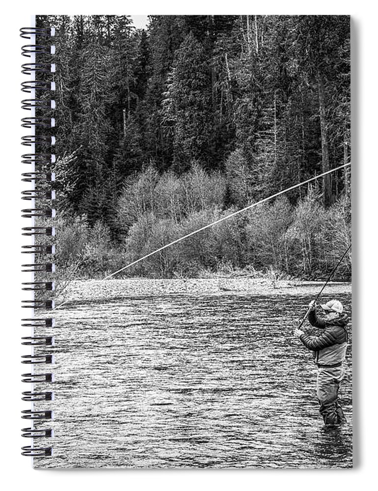 Flyfishing Spiral Notebook featuring the photograph On the River by Jason Brooks