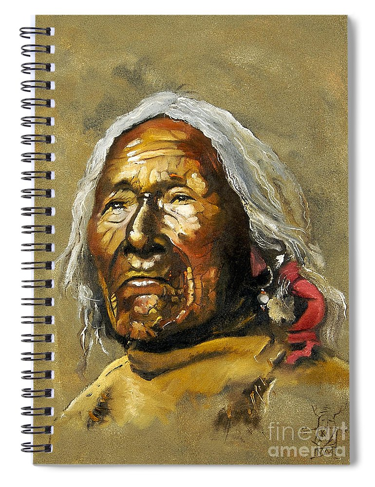 Southwest Art Spiral Notebook featuring the painting Painted sands of time by J W Baker