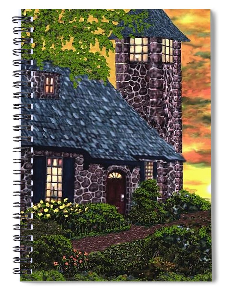 Painting Spiral Notebook featuring the digital art Painting by Bert Mailer
