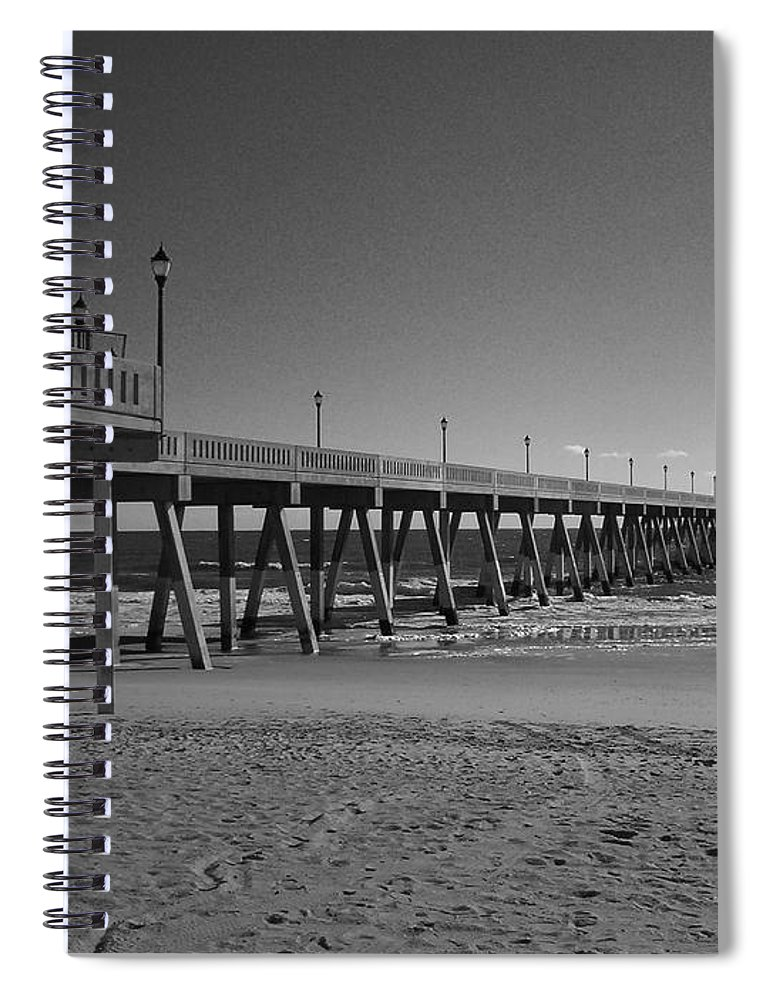 Pier Spiral Notebook featuring the photograph Pier Willmington Nc by Tommy Anderson
