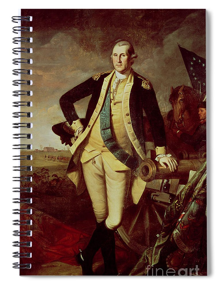 Portrait Spiral Notebook featuring the painting Portrait Of George Washington 1 by Charles Willson Peale