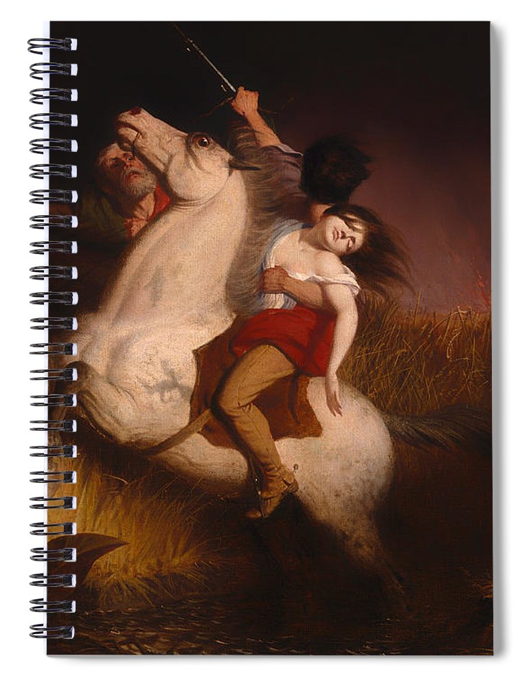 Painting Spiral Notebook featuring the painting Prairie On Fire by Mountain Dreams