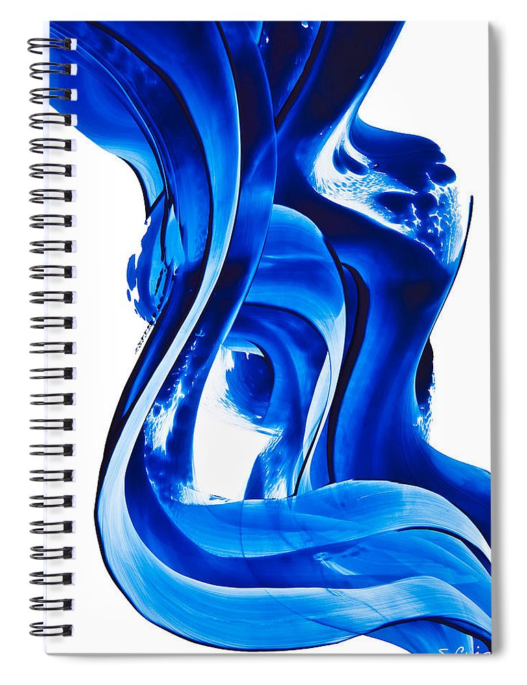 Abstract Art Spiral Notebook featuring the painting Pure Water 66 by Sharon Cummings