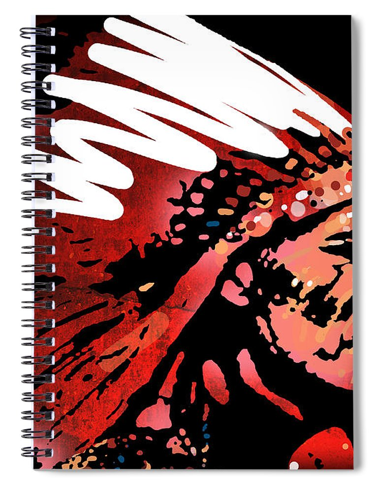 Native American Spiral Notebook featuring the painting Red Pipe by Paul Sachtleben