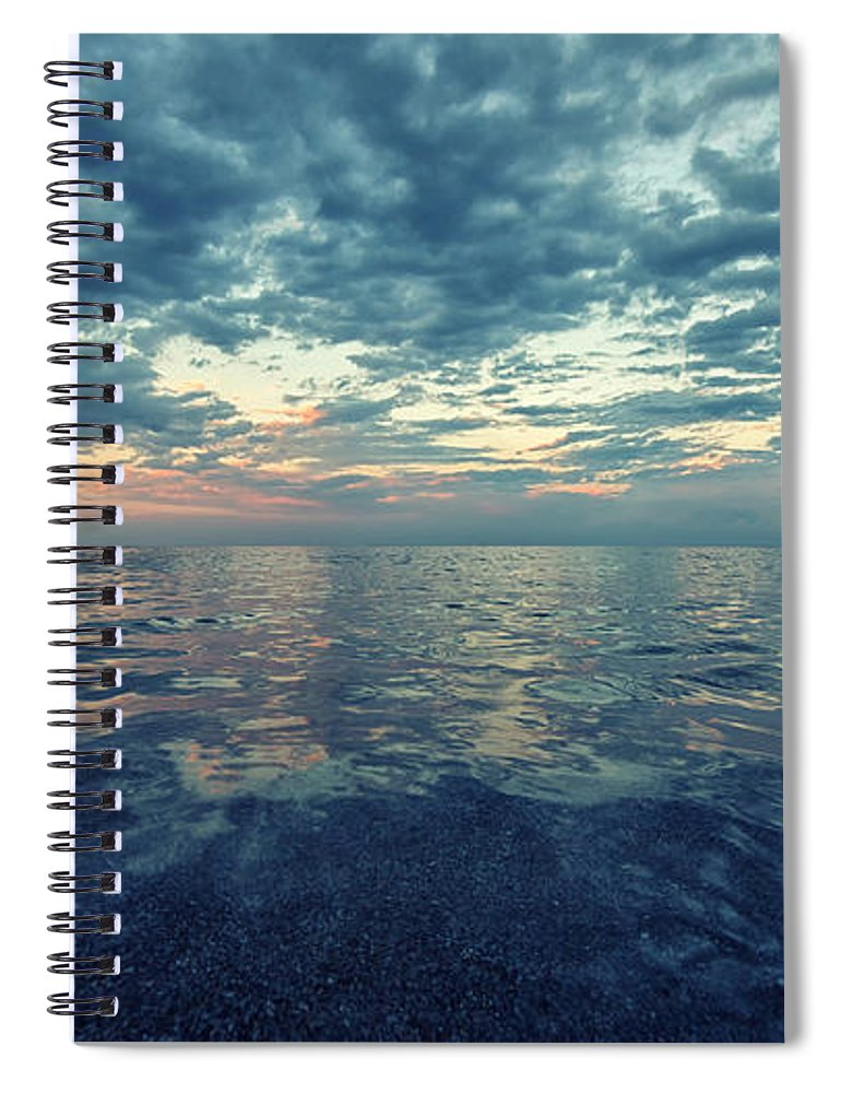 Sea Spiral Notebook featuring the photograph Reflections by Stelios Kleanthous