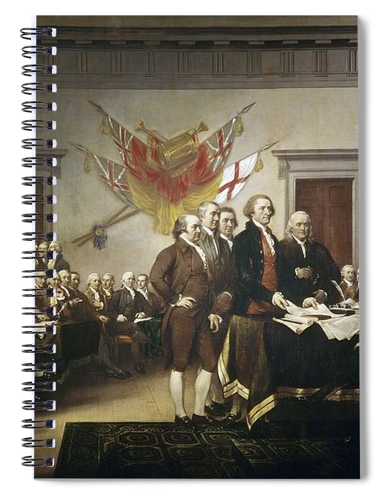 Signing Spiral Notebook featuring the painting Signing The Declaration Of Independence by John Trumbull
