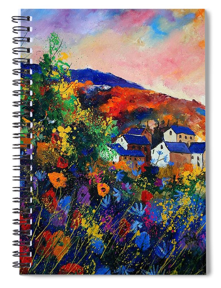 Landscape Spiral Notebook featuring the painting Summer by Pol Ledent