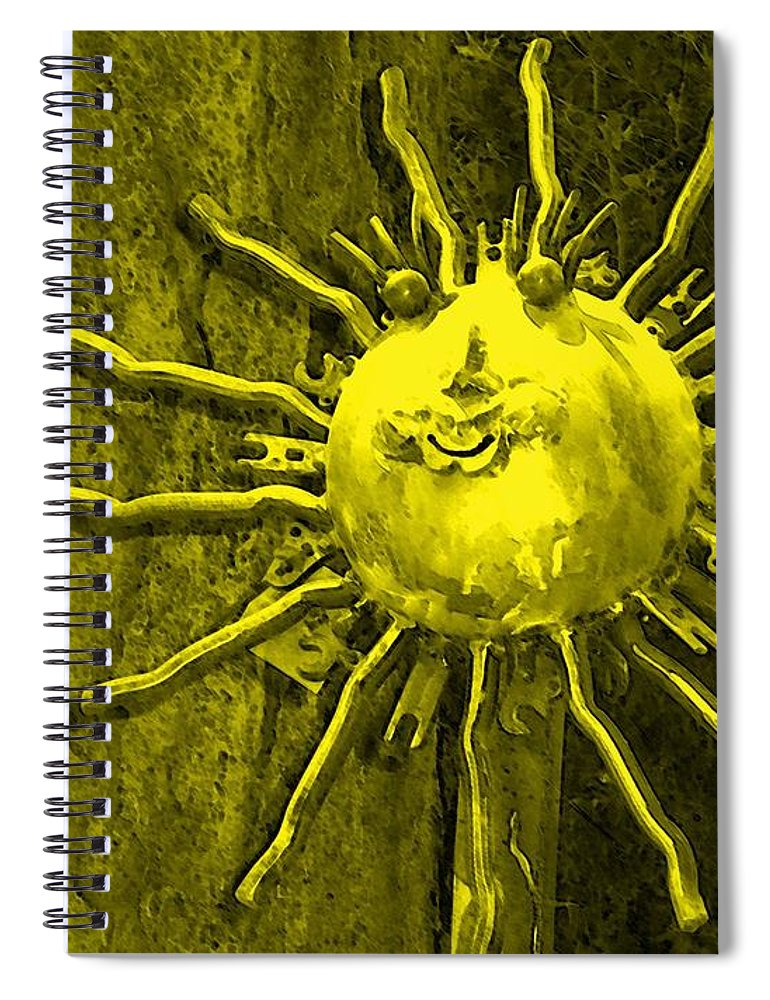 Sun Spiral Notebook featuring the photograph Sun Tool by Debbi Granruth