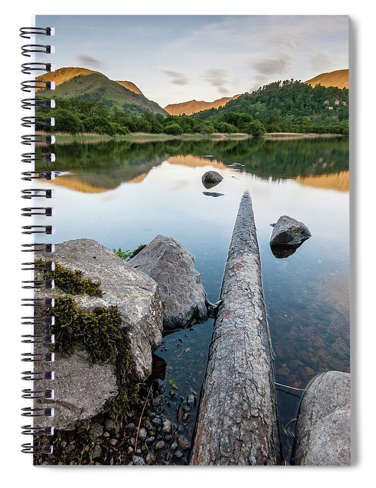 Landscape Spiral Notebook featuring the photograph Sunrise at Ullswater, Lake District, North West England by Anthony Lawlor