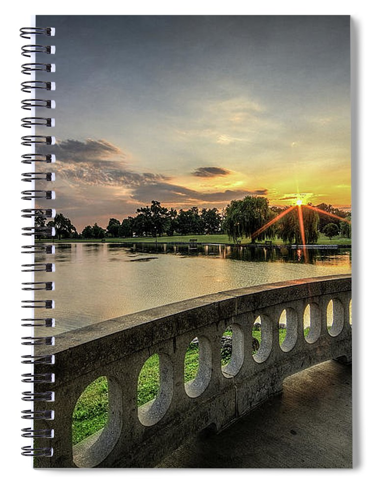 Hiawatha Spiral Notebook featuring the photograph Sunrise In The Park by Everet Regal