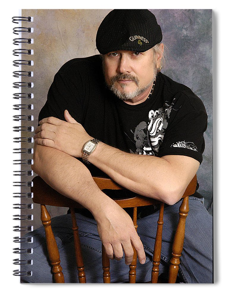 Clay Spiral Notebook featuring the photograph The Artist by Clayton Bruster