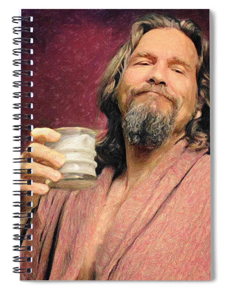 The Dude Spiral Notebook featuring the painting The Dude by Zapista Zapista