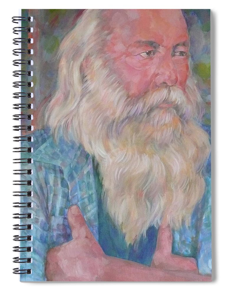 Another Bloke Spiral Notebook featuring the digital art The Fiddler by Scott Waters