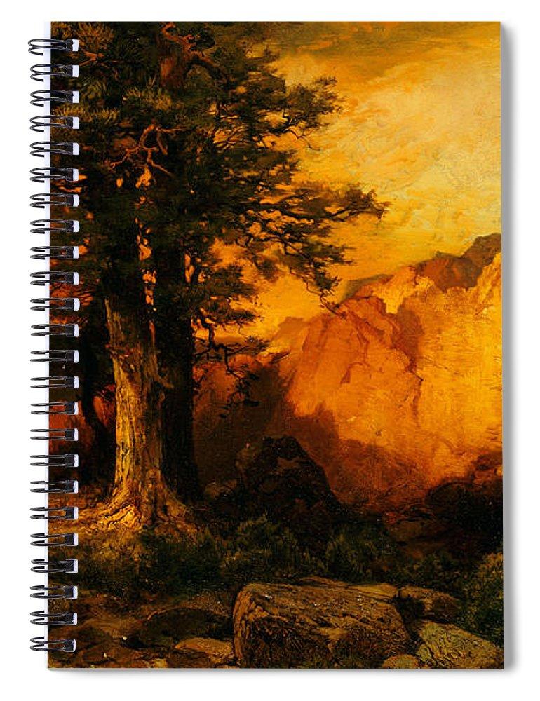 Thomas Moran Spiral Notebook featuring the painting The Grand Canyon by Thomas Moran