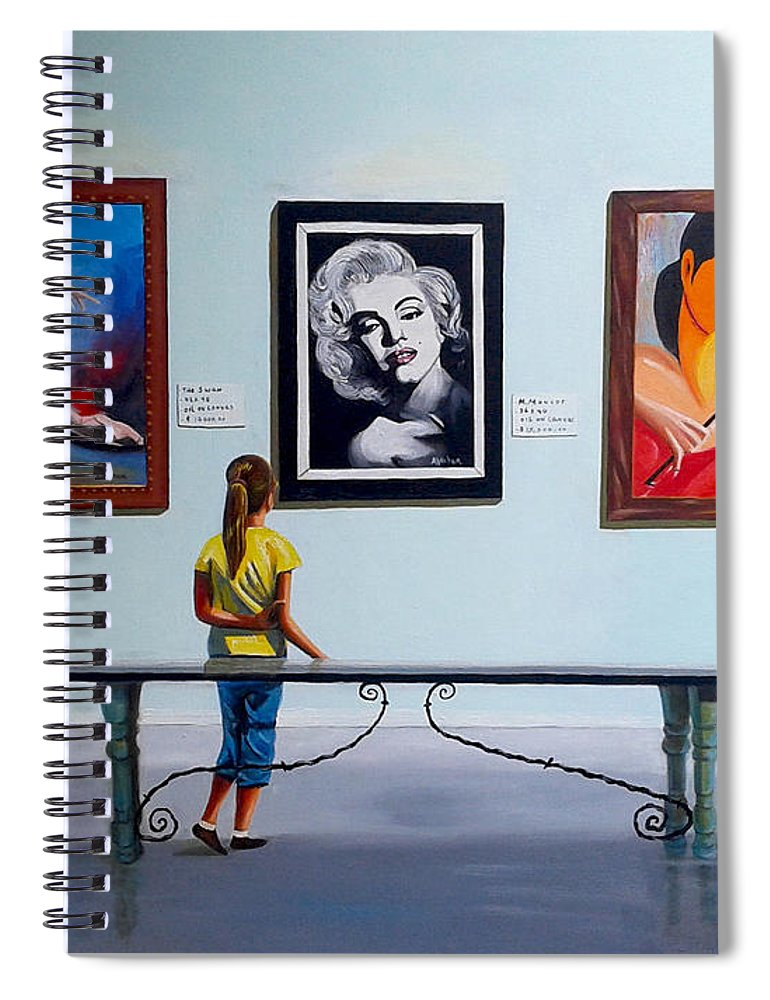Dancing Spiral Notebook featuring the painting I want to be by Jose Manuel Abraham