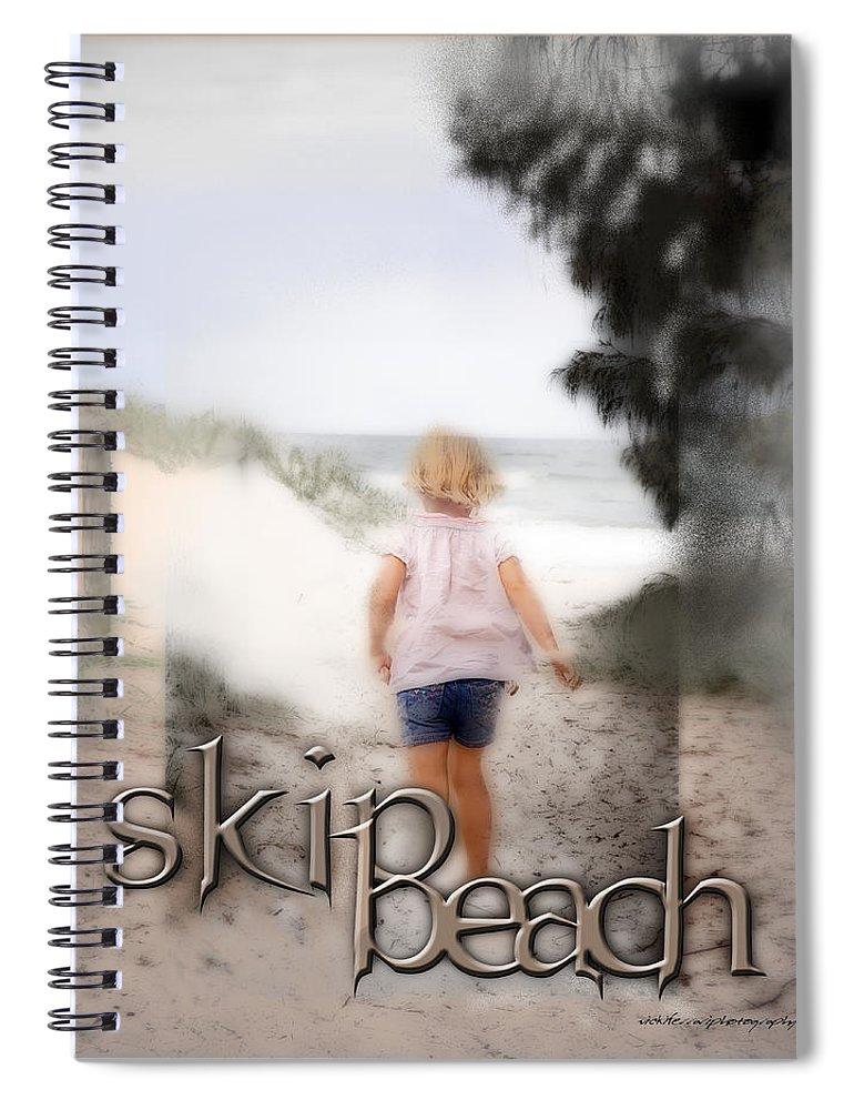 Quote Spiral Notebook featuring the digital art True Friends by Vicki Ferrari
