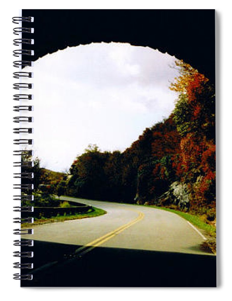 Tunnel Vision Spiral Notebook featuring the photograph Tunnel Vision by Seth Weaver
