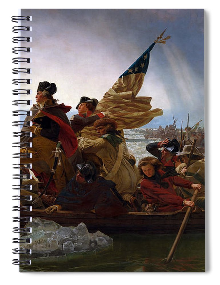 Washington Crossing The Delaware Spiral Notebook featuring the digital art Washington Crossing The Delaware by Emanuel Leutze