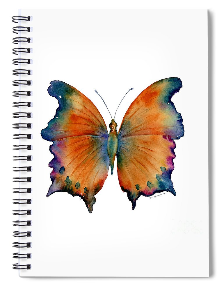 Wizard Butterfly Spiral Notebook featuring the painting 1 Wizard Butterfly by Amy Kirkpatrick
