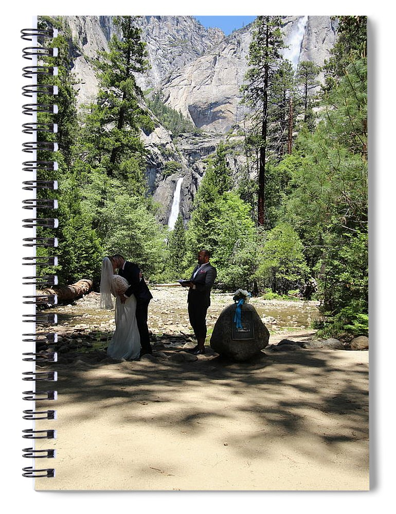 Spiral Notebook featuring the painting Yosemite Wedding by Travis Day