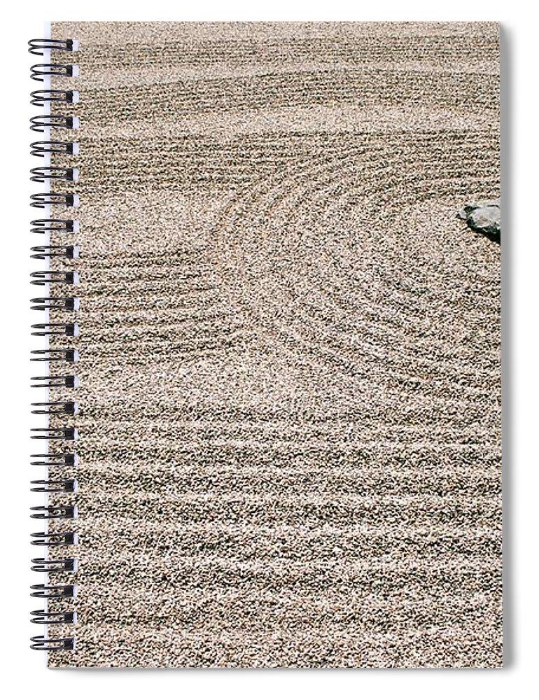 Zen Spiral Notebook featuring the photograph Zen Garden by Dean Triolo