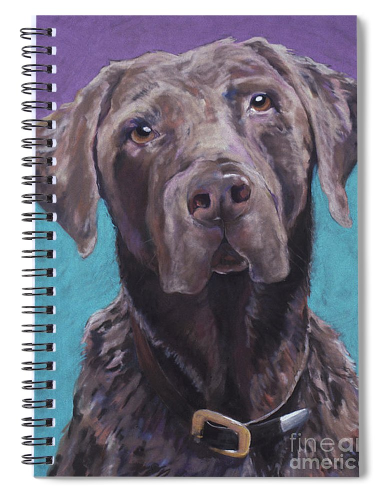 Pet Portrait Commissions Spiral Notebook featuring the pastel Max by Pat Saunders-White
