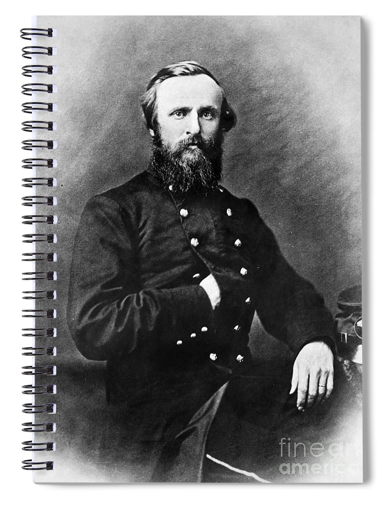 19th Century Spiral Notebook featuring the photograph Rutherford B. Hayes by Granger