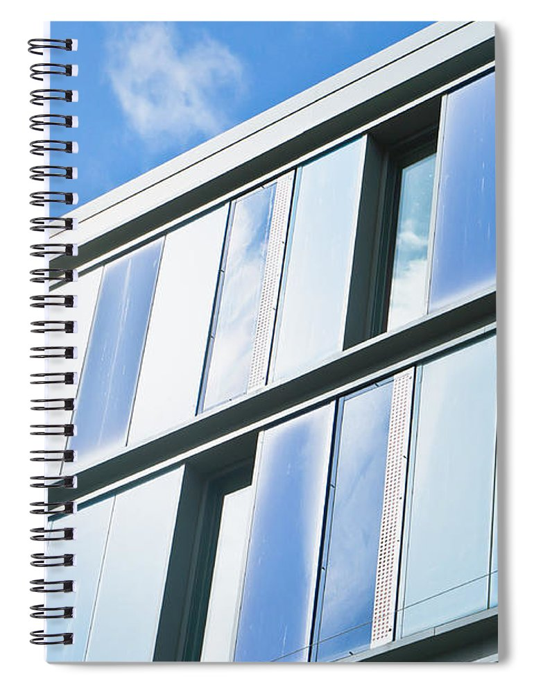Architecture Spiral Notebook featuring the photograph Modern Architecture by Tom Gowanlock