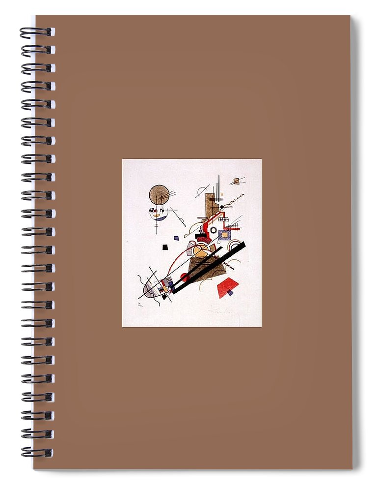 Sketch Spiral Notebook featuring the digital art  1925 Vasily Kandinsky by Eloisa Mannion