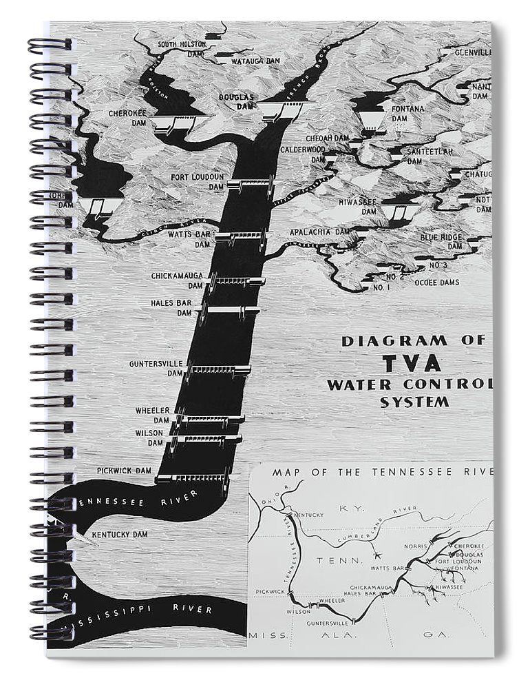 Tennessee Valley Authority Map Spiral Notebook For Sale By - Tva hunting maps