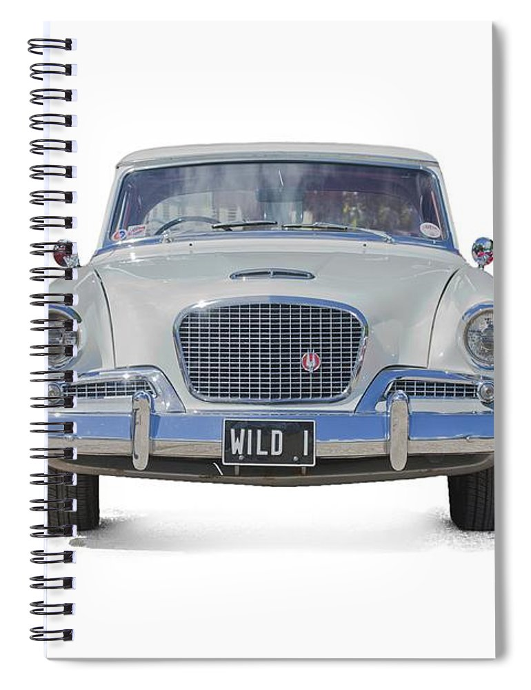 1961 Studebaker Car Spiral Notebook Featuring The Photograph Hawk On A Transparent Background By