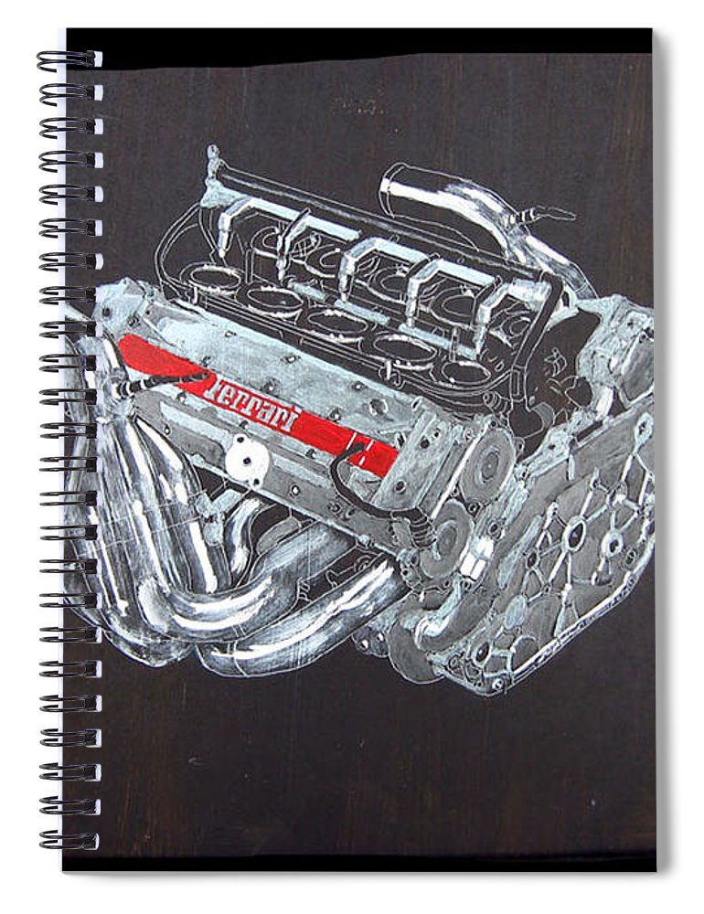 1996 Ferrari F1 V10 Engine Spiral Notebook