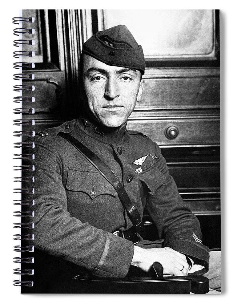 Eddie Rickenbacker Spiral Notebook featuring the photograph Eddie Rickenbacker by War Is Hell Store