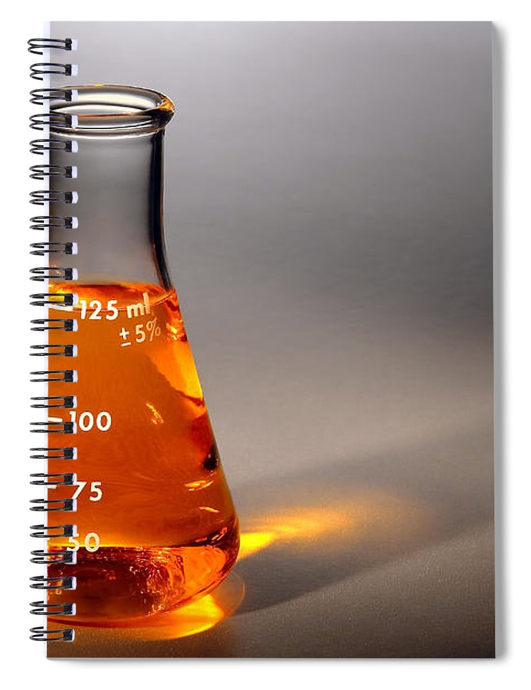 Scientific Spiral Notebook featuring the photograph Equipment In Science Research Lab by Olivier Le Queinec