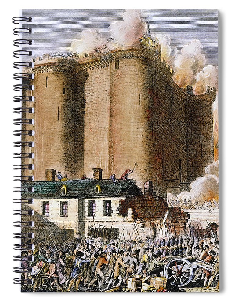 1789 Spiral Notebook featuring the photograph French Revolution, 1789 by Granger