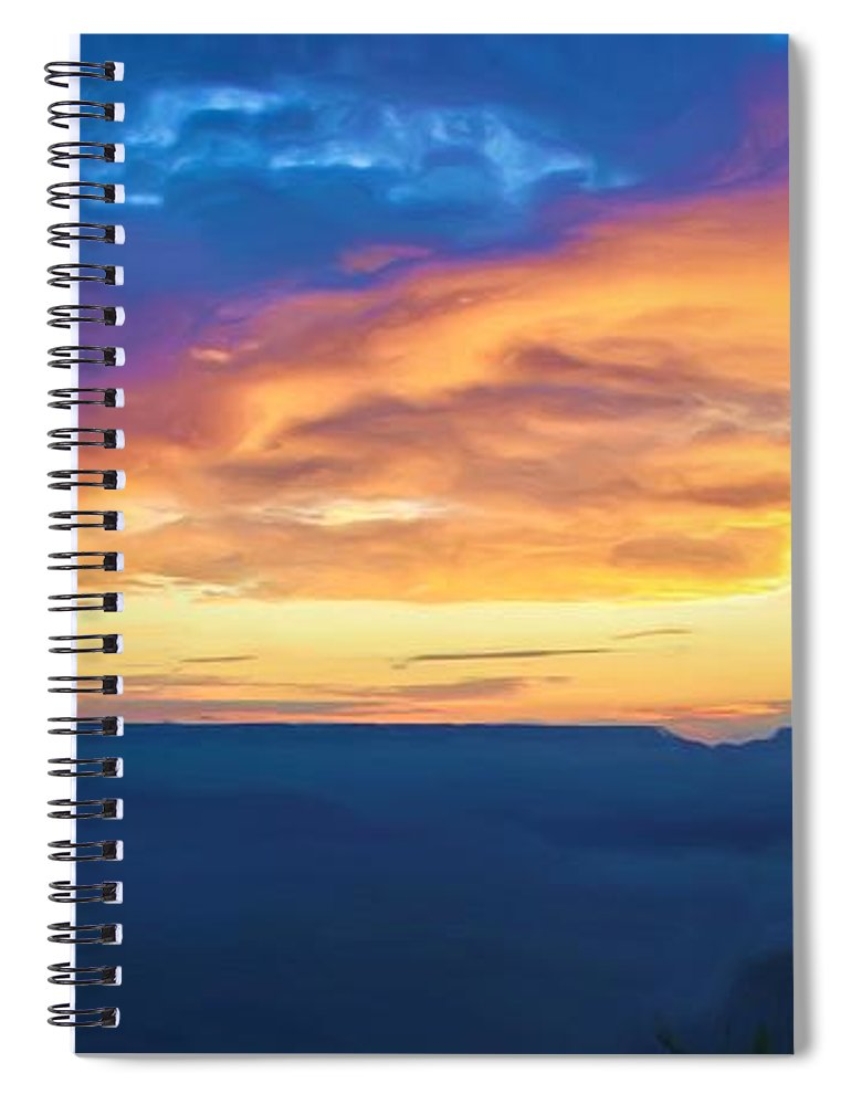 Grand Canyon Spiral Notebook featuring the photograph Here Comes The Sun by Heidi Smith