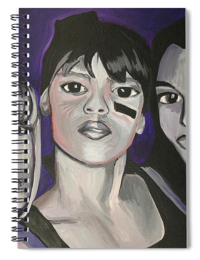 Lisa Lopez Spiral Notebook featuring the painting Left Eye by Kate Fortin