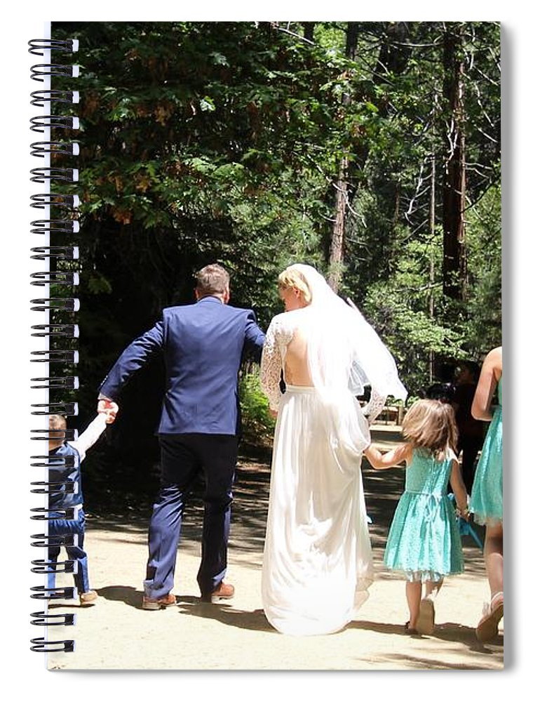 Spiral Notebook featuring the painting Married by Travis Day