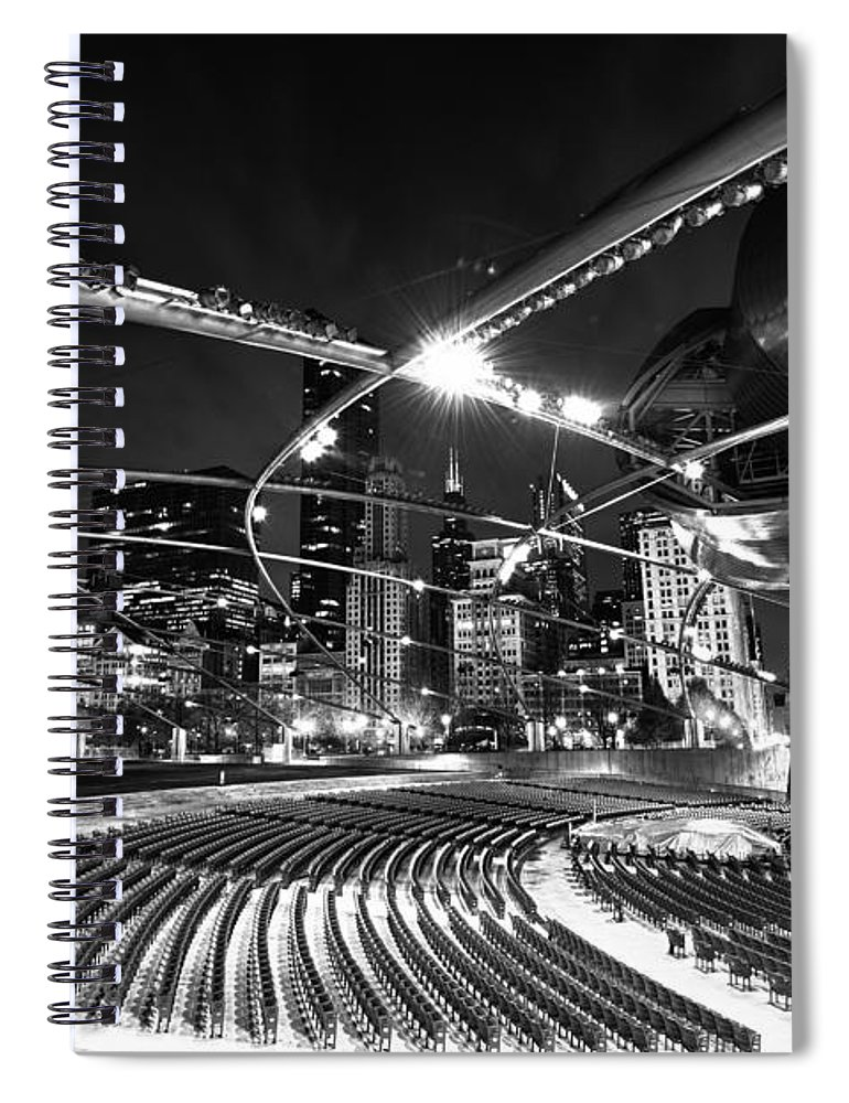 Chicago Spiral Notebook featuring the photograph Millennium Park by Sebastian Musial