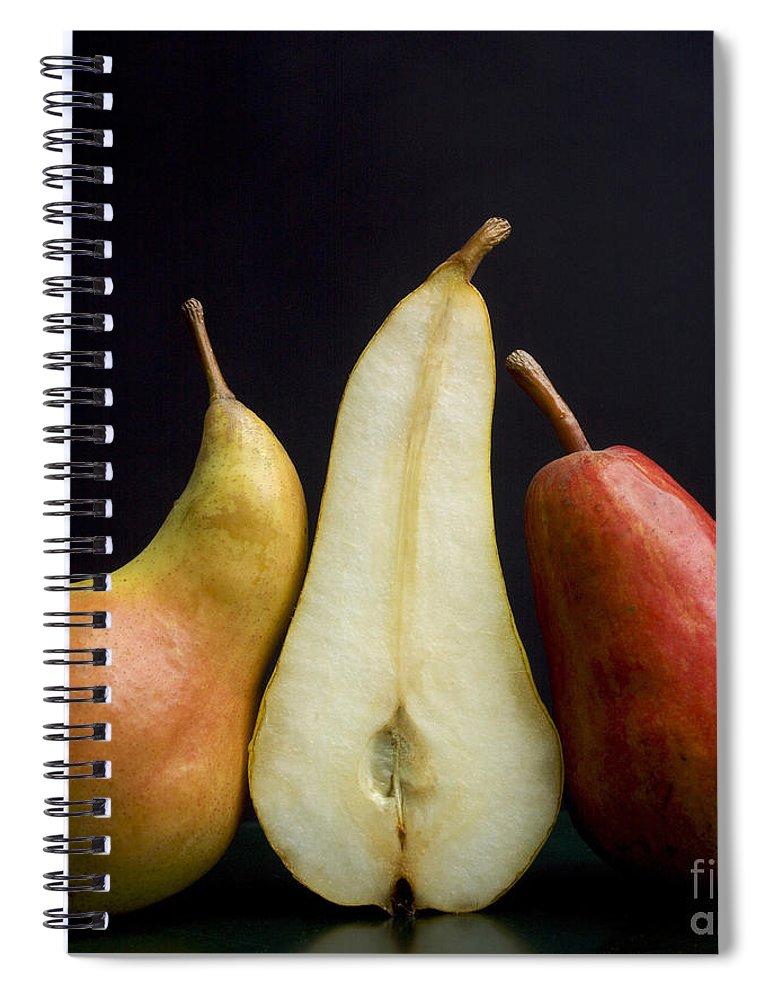 Studio Shot Spiral Notebook featuring the photograph Pears by Bernard Jaubert
