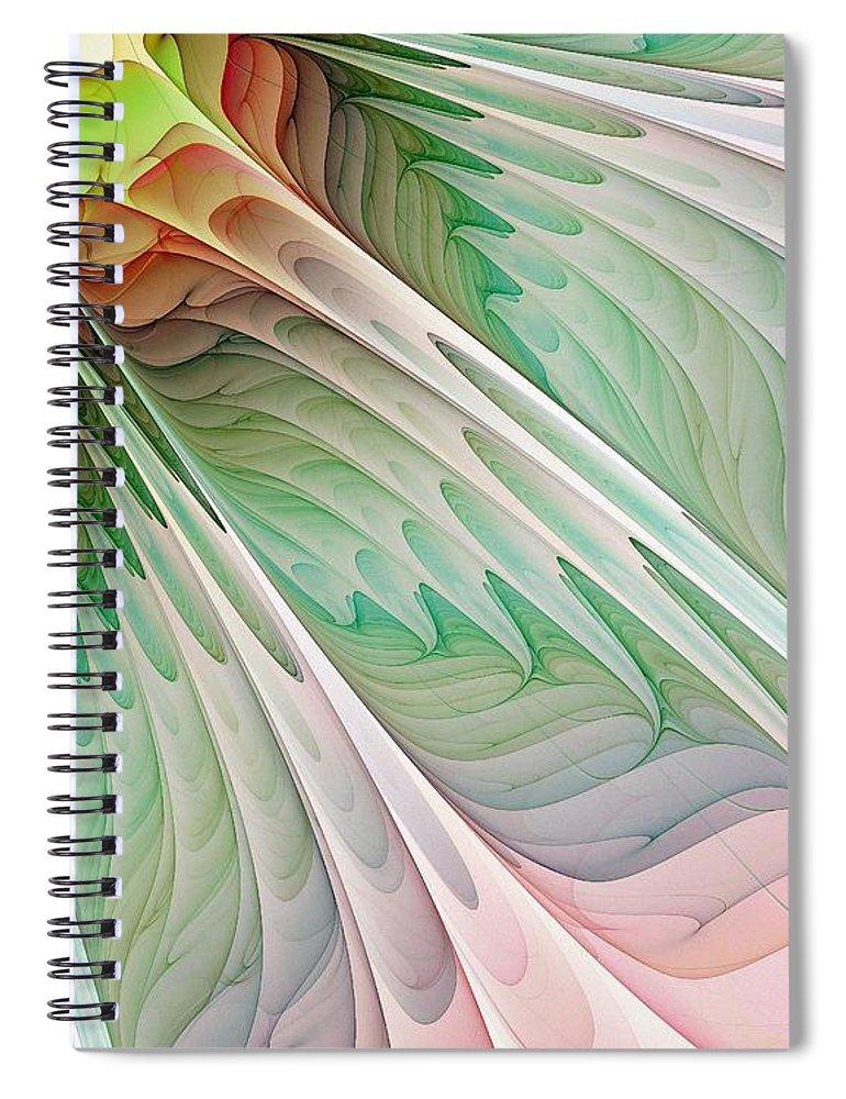 Digital Art Spiral Notebook featuring the digital art Petals by Amanda Moore