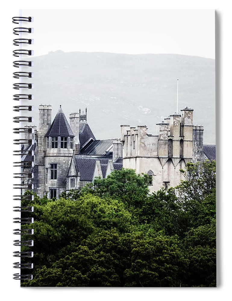 Puxley Mansion Spiral Notebook featuring the photograph Puxley Mansion - Ireland by Joana Kruse