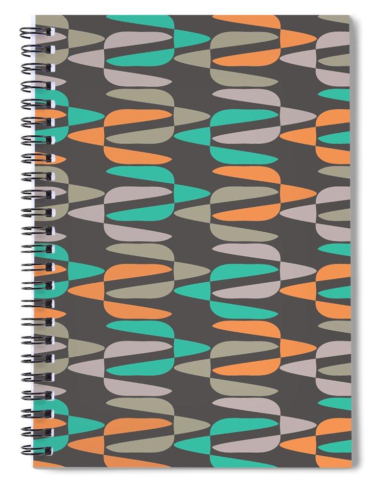 Retro Spiral Notebook featuring the digital art Zappwaits Retro by Rolf Ebenau