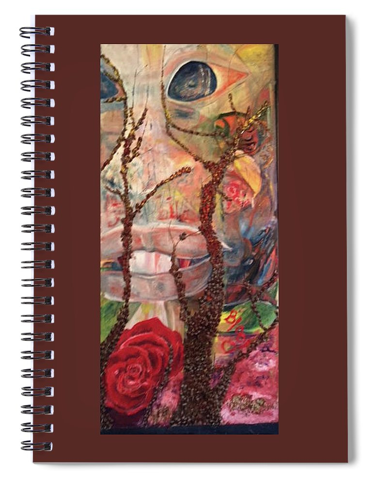 Landscape Spiral Notebook featuring the painting 2016 Anticipation by Peggy Blood