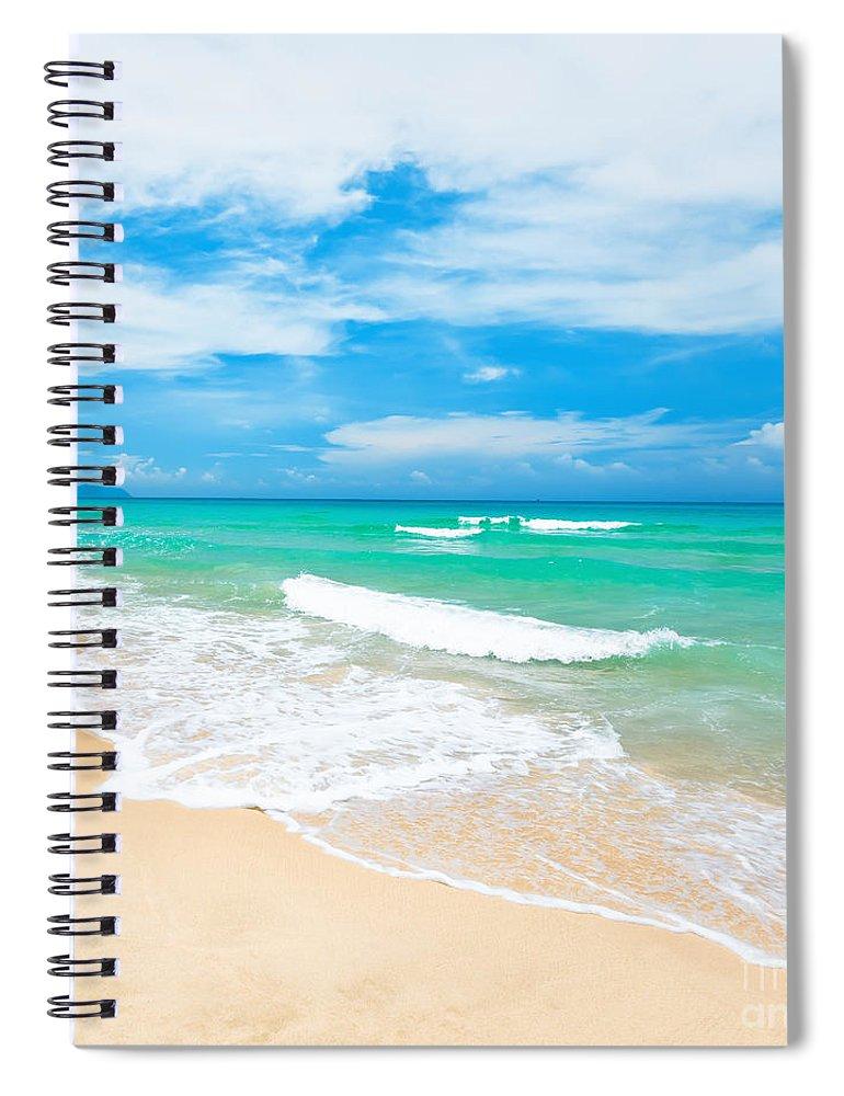 Beach Spiral Notebook featuring the photograph Beach by MotHaiBaPhoto Prints