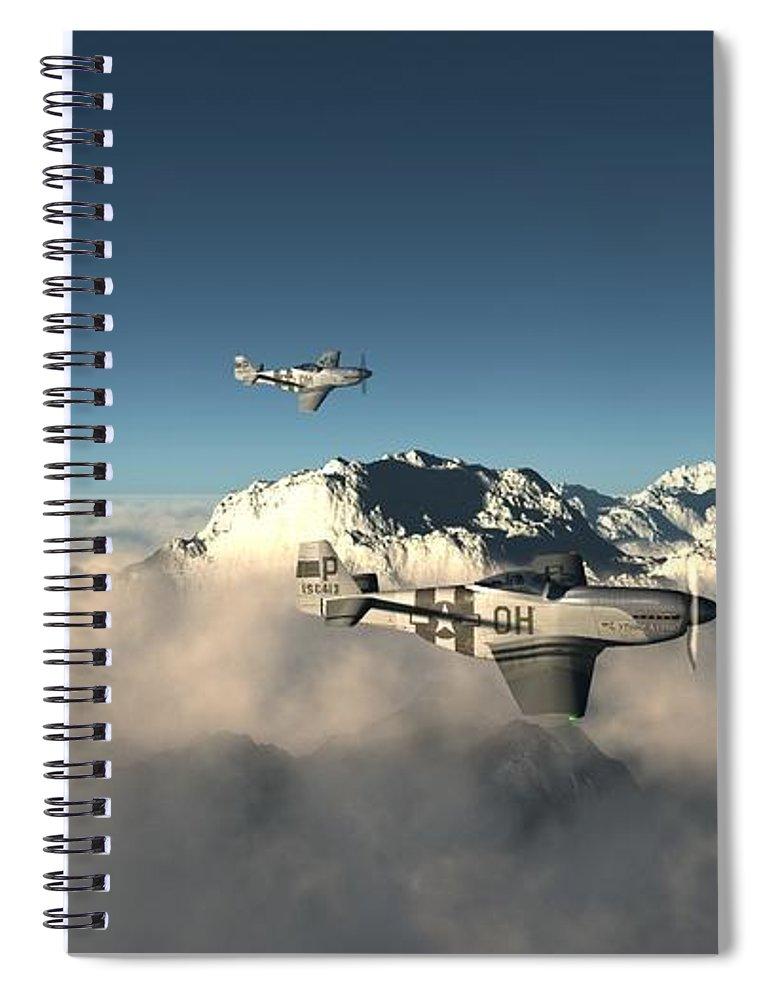 Aircraft Spiral Notebook featuring the digital art Aircraft by Dorothy Binder