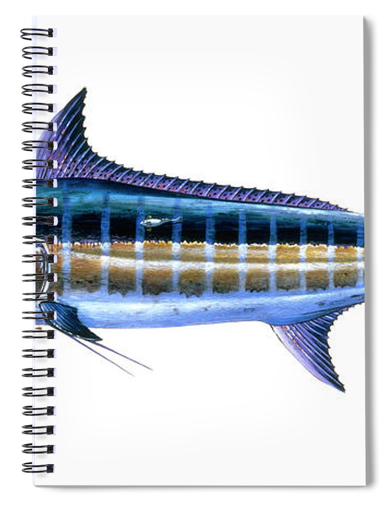 Blue Marlin Spiral Notebook featuring the painting Blue Marlin 3 by Carey Chen