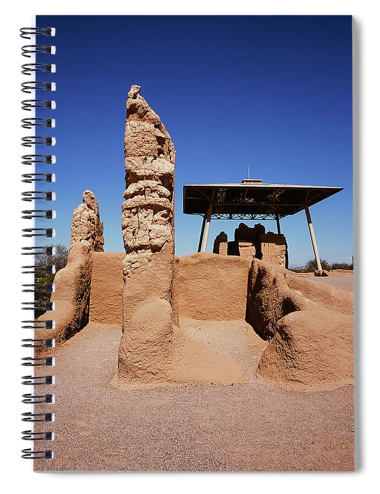 Abandoned Spiral Notebook featuring the photograph Casa Grande Ruins by Paul Moore