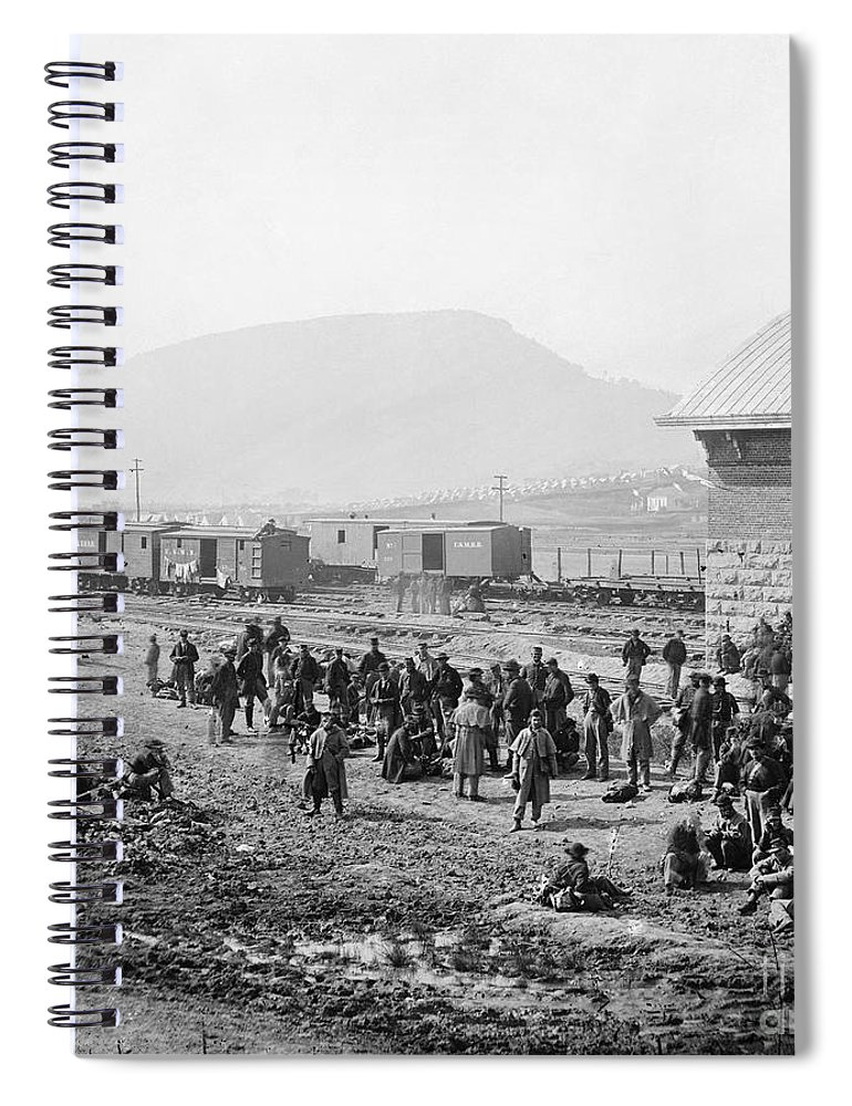 1864 Spiral Notebook featuring the photograph Civil War: Prisoners, 1864 3 by Granger