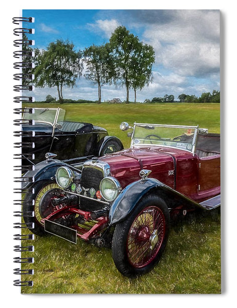 Cars Spiral Notebook featuring the photograph Classic Cars by Adrian Evans